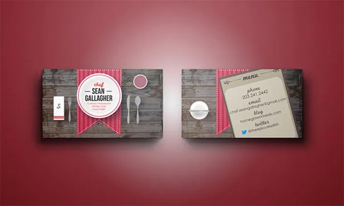 16 Business Cards for Chefs  Free  Premium Templates