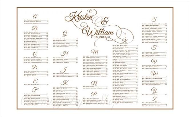 Free Template Wedding Seating Chart Wedding Invitation Sample – Free Wedding Seating Chart Templates