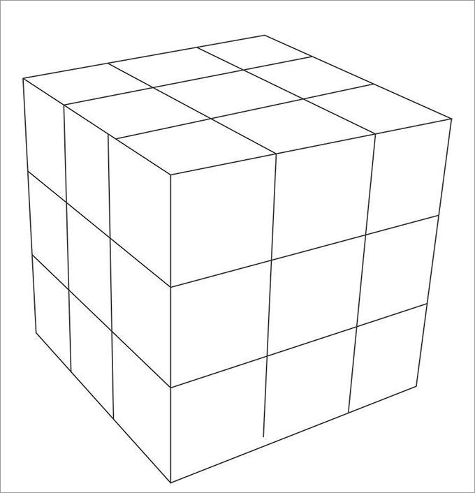 Pin Cube-acube-template-blank on Pinterest