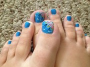 toe nail art design & ideas