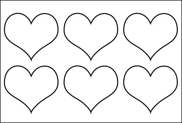 Heart shaped macaron template