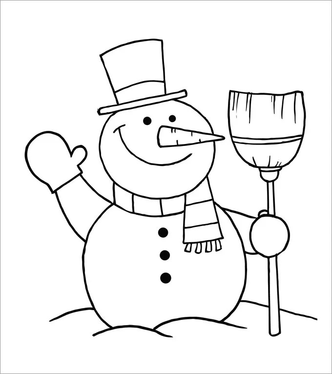 Scarf Large Snowman Template