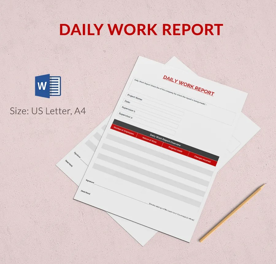 Daily Report Template 25 Free Word Excel PDF Documents Download Free Amp Premium Templates