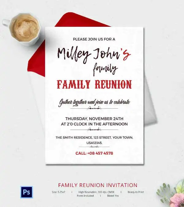 Family Reunion Flyer Template family reunion invitations tips