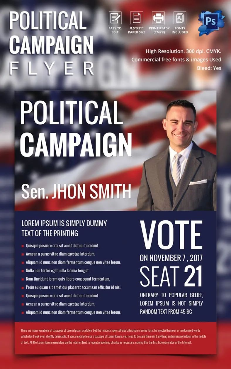 template for campaign flyer