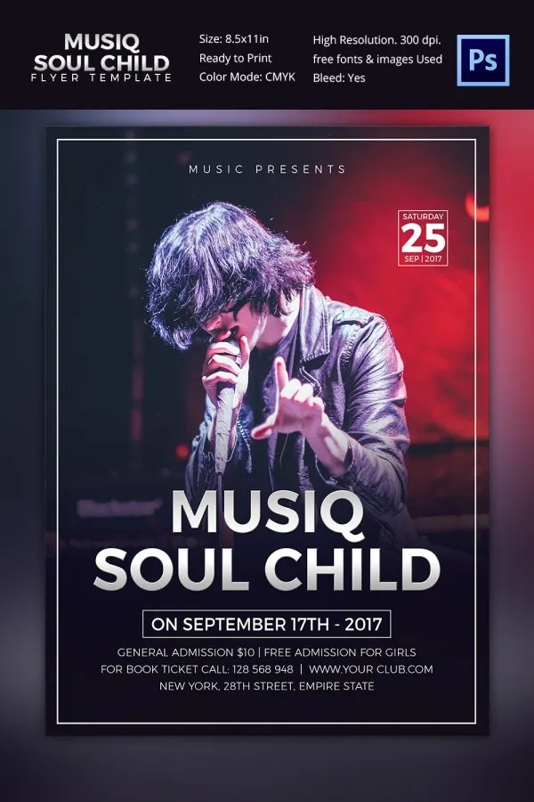 Concert Flyer Template 35 PSD Format Download Free Amp Premium Templates