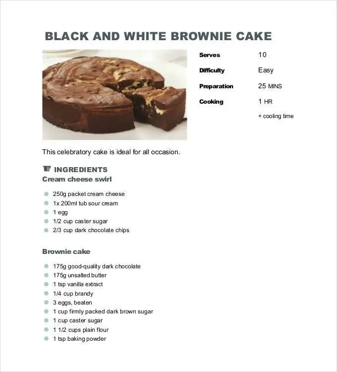 43 amazing blank recipe