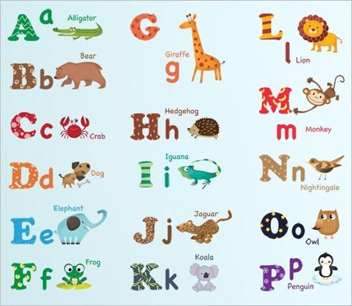 19 Nursery Alphabet Letters AI Vector EPS PNG JPEG