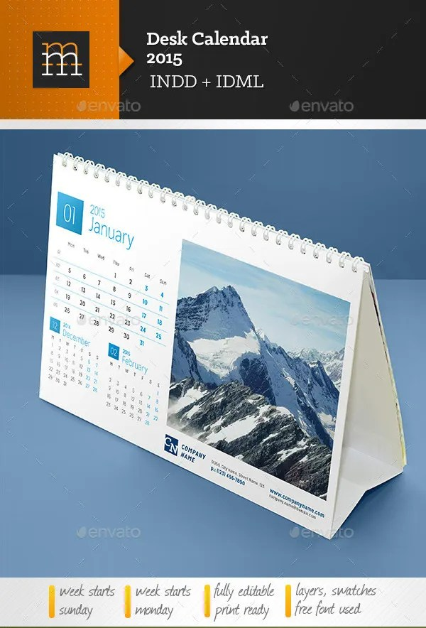 Desk Calendar Template  30 Free PSD AI Indesign EPS