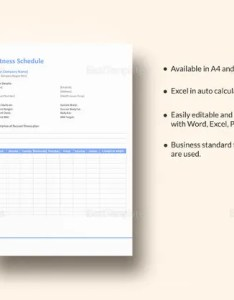 Fitness schedule template also workout templates pdf doc free  premium rh