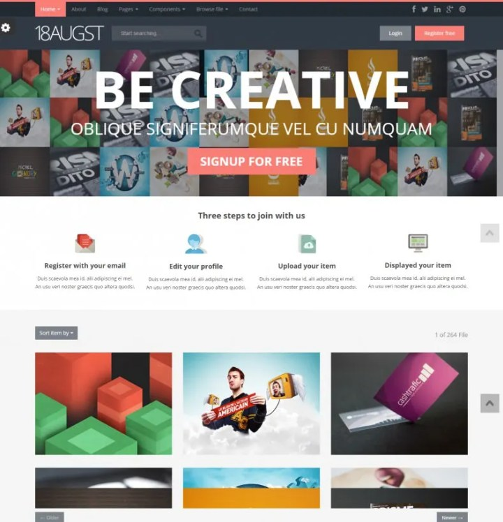 Gallery Templates | Gallery Images Html Free Cartoonku Co
