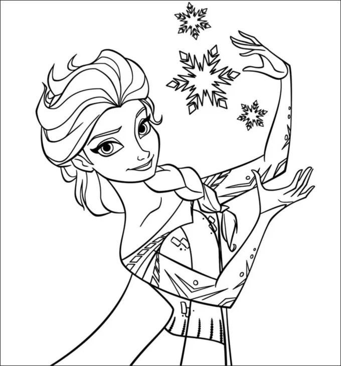 28 Frozen Coloring Page Templates
