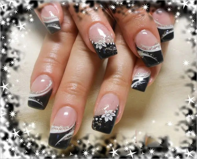 simple and cool gel nail art