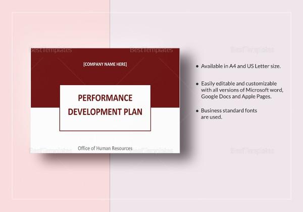 Performance Development Plan Template - Development Plan Template ...