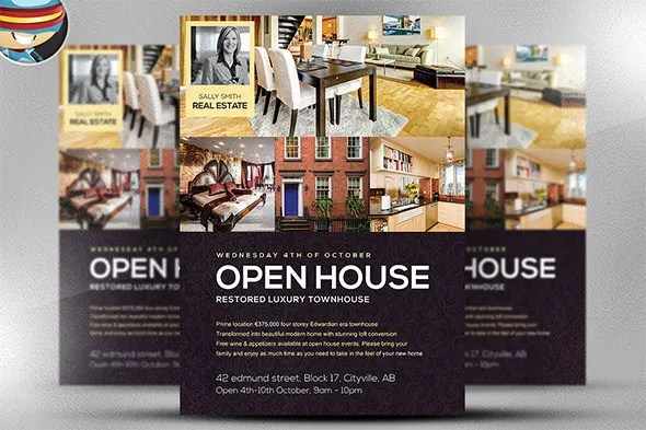 Open House Flyer Template – 30 Free PSD Format Download Free