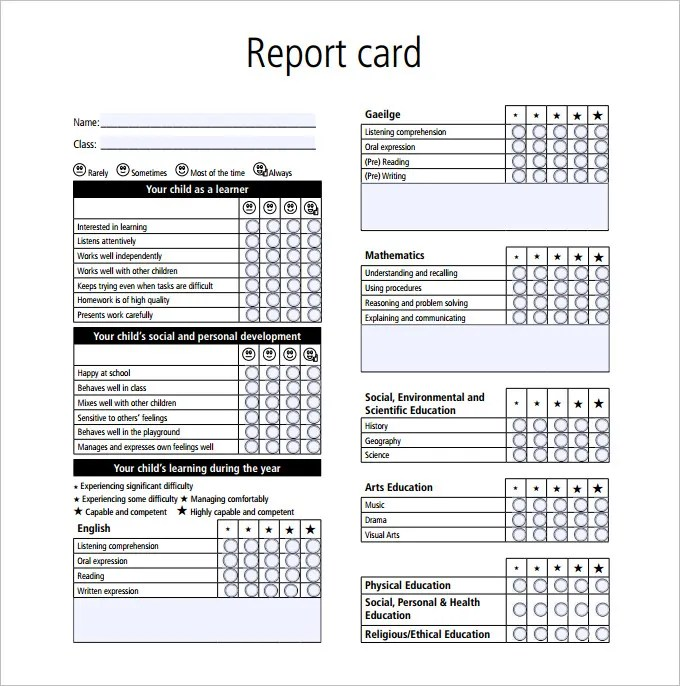 preschool report card comments examples pdf. Black Bedroom Furniture Sets. Home Design Ideas