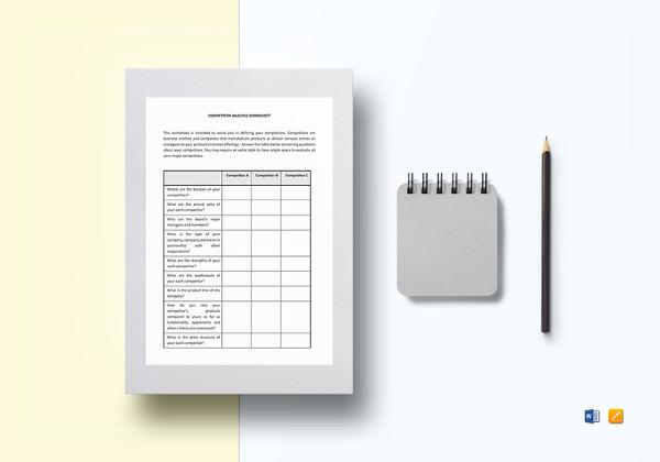 20 Worksheet Templates Free Download Ms Word Format