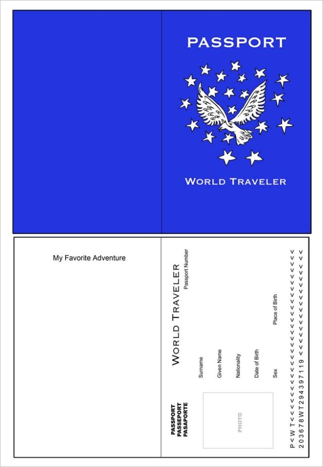 passport craft for kids kidscrafts