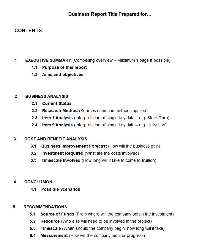 Business report format sample community psychology masters programs 35 business report template free sample example friedricerecipe Choice Image