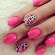 valentine's nail design &