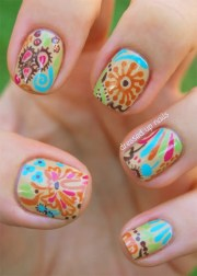 flower nail design & ideas