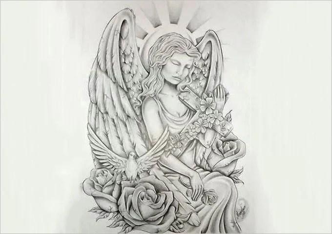 Fallen Angel Drawing Pencil Sketches