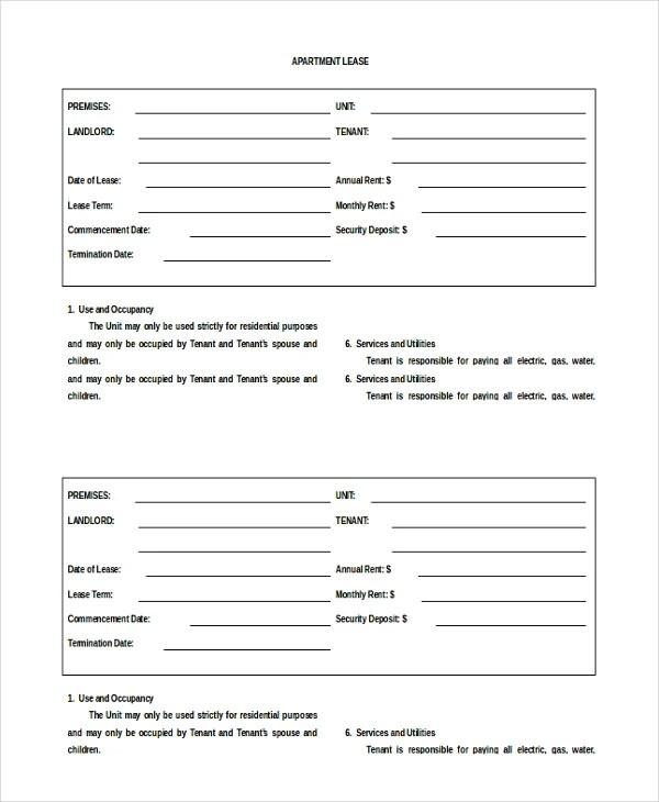 19+ Apartment Rental Agreement Templates – Free Sample, Example ...