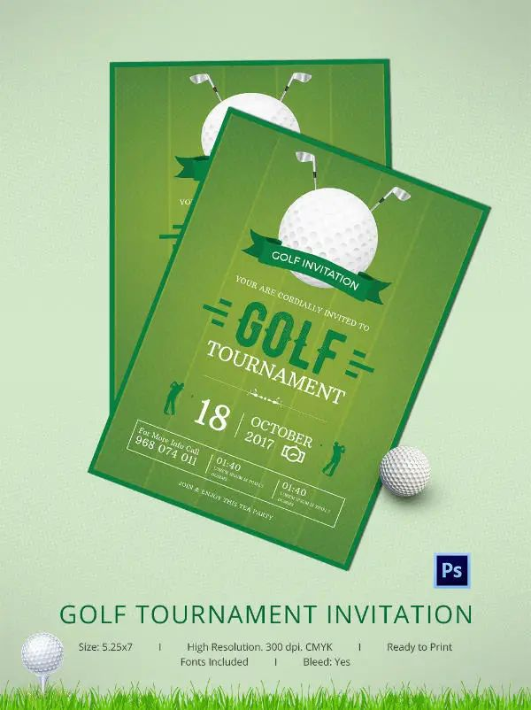 golf tournament invitations templates