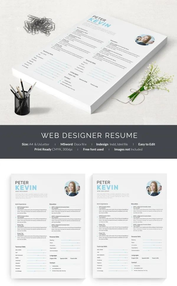 web designer resume template download