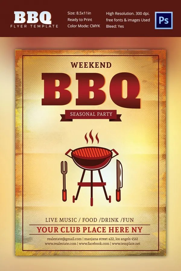 28 BBQ Flyer Templates  Free Word PDF PSD EPS InDesign Format Download  Free  Premium
