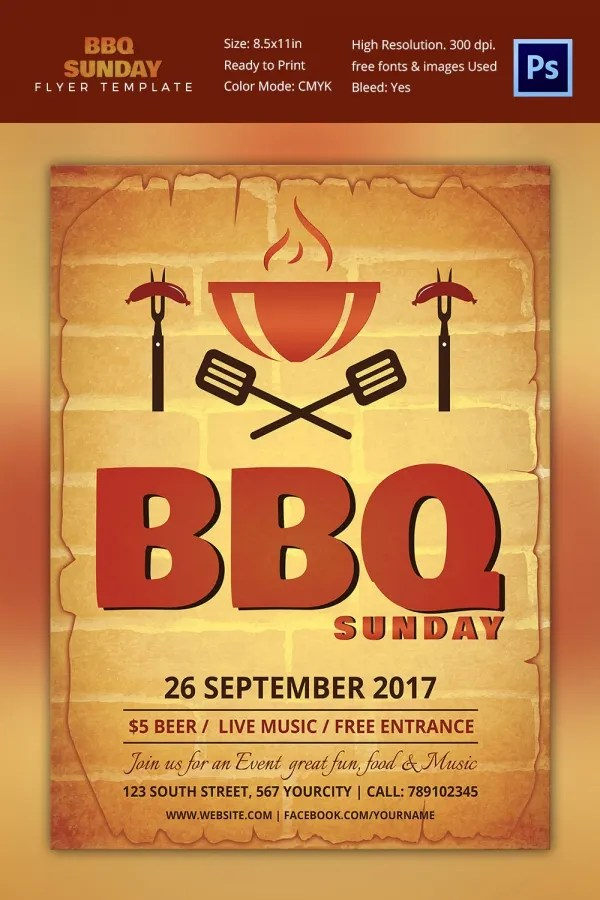 25 BBQ Flyer Template Free Word PDF PSD EPS InDesign Format Download Free Premium