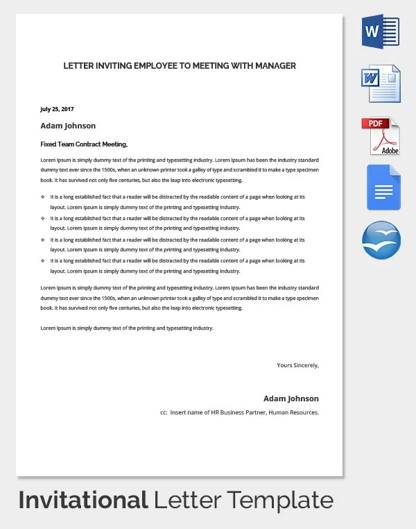 How To Write An Invitation Letter For Annual General