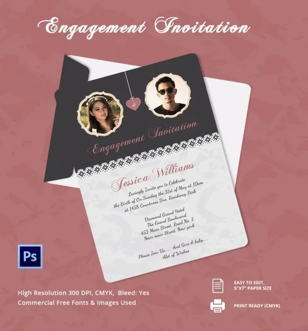 Baby Shower Invitations Size