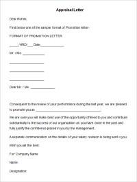 26+ Sample Appraisal Letters