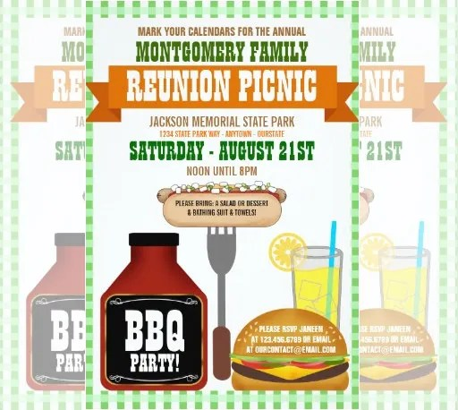 31 Family Reunion Invitation Template Free Psd Vector Eps Png