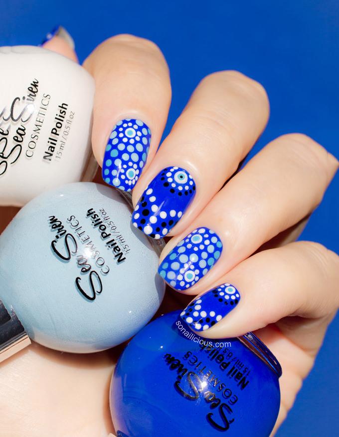Cute Blue Nail Design
