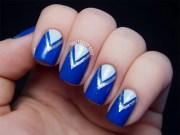 blue nail art design & ideas