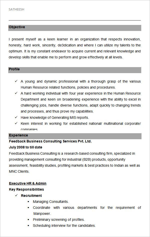 40 HR Resume CV Templates HR Templates Free & Premium
