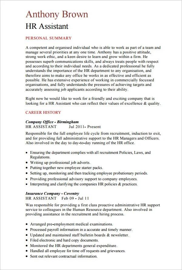 21 HR Resume Templates DOC Free & Premium Templates