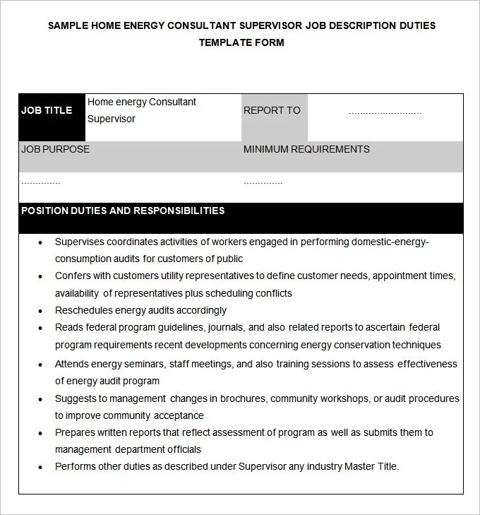 48 HR Job Description Templates  HR Templates  Free