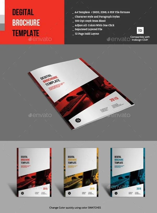 17 Fresh Digital Brochure Templates Free PSD Vector EPS PNG