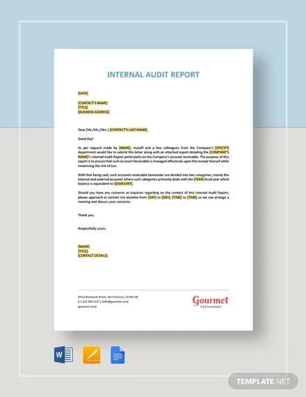 314.802.2020 internal audit report attachment i Audit Report Format