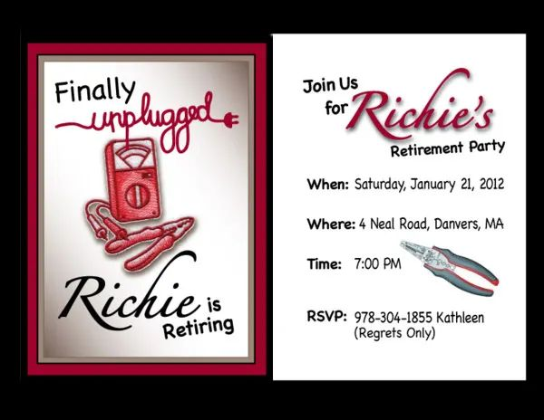 free retirement party invitation templates for word