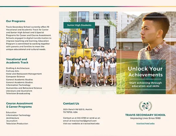 17 School Brochure PSD Templates & Designs Free & Premium Templates