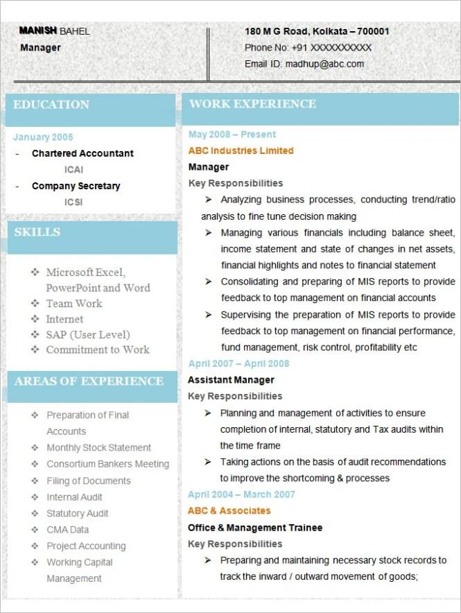 resume samples for accountants resume sample