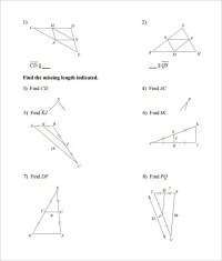 16 Sample High School Geometry Worksheet Templates | Free ...