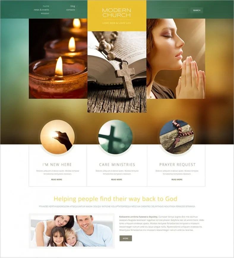 18 Best Spiritual Website Templates Free & Premium Themes Free