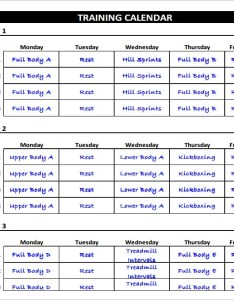 Weekly exercise schedule chart template also fitness free excel pdf documents download rh