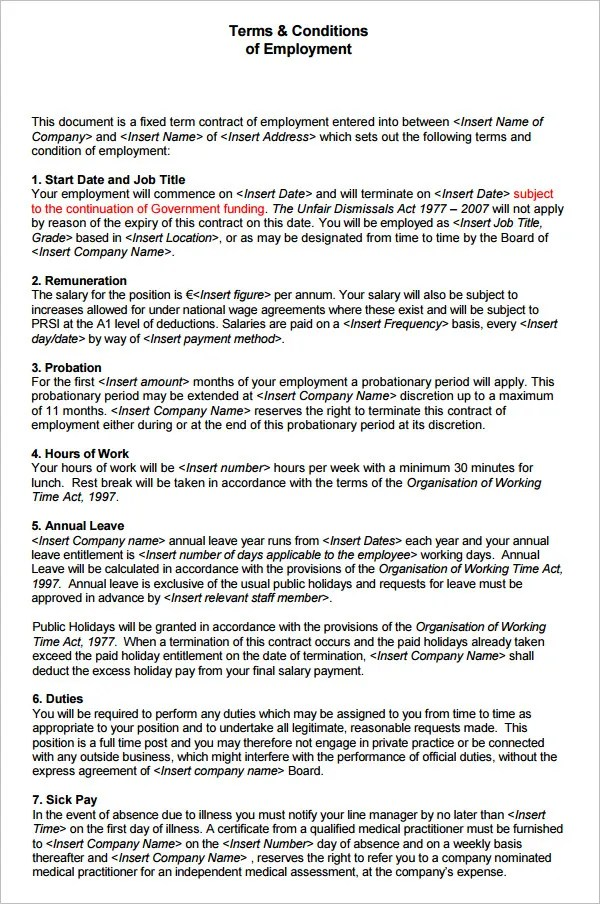 23 HR Contract Templates HR Templates  Free  Premium