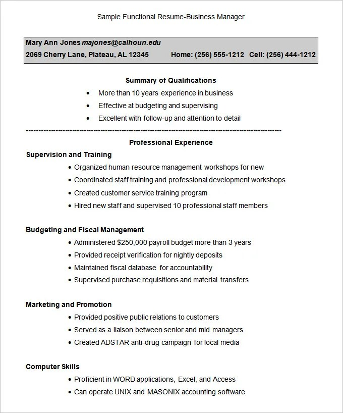Combination Resume Template Combination Resume Checklist The Best